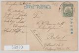 Kiautschou, 1911, Mi.- Nr.: 29, als EF auf japanischer Bildpostkarte von Tsingtau nach Berlin