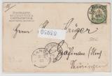 DOA, 1903, Mi.- Nr.: 12, als EF auf Bildpostkarte von Pangani nach Gräfinau (D.)