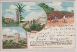 DOA / DR, 1902, DR- Mi.- Nr.: 53, als EF auf Bildpostkarte  Gruß aus Bagamoyo), innerhalb Berlin´s