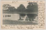 DOA, 1902, Mi.- Nr.: 12, als EF auf Bildpostkarte (Gruß aus DOA) von Pangani nach Dresden
