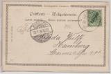 Kamerun, 1900, Mi.- Nr.: 2, als EF auf Bildpostkarte (Buea, Station am Kamerunberg) von Victoria nach Hamburg