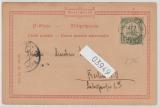 Kamerun, 1902, Mi.- Nr.: 8 als EF auf Bilpostkarte (Aufziehen der schwarzen Wache), gelaufen von Buea nach Berlin