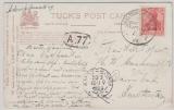 Deutsche Seepost, Ost-Asiatische Hauptlinie, 1909, f, auf Postkarte nach Amsterdam