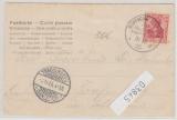 Deutsche Seepost, Ost-Asiatische Hauptlinie, 1905, e, auf Postkarte nach Trachenberg