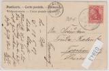 Deutsche Seepost, Ost-Asiatische Hauptlinie, 1907, b, auf Postkarte nach Trachenberg
