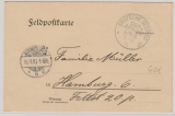 Deutsche Seepost Ost- Afrikanische- Hauptlinie, 1906, s, auf Feldpostkarte nach Hamburg
