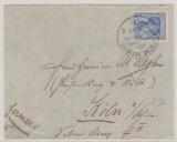 Deutsche Seepost Ost- Asiatischesche- Hauptlinie, q, 1910, auf Briefvorderseite nach Köln