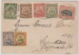 Kamerun / Deutsche Seepost Hamburg Westafrika (VI), 1902 auf Kamerun Mi.- Nr.: 7- 11 + Liberia MiF Postkarte nach Spandau