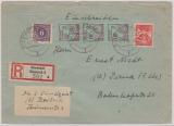 18 a u.a. in MiF auf E.- Brief von Rostock nach Pirna, tiefstgeprüft Kramp