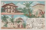 DOA / DR, 1899, Postkarte aus der Serie Deutsche Schutzgebiete, Gruß aus Tanga, gelaufen innerhalb D.