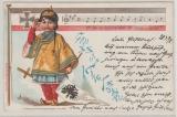 Kiautschou/ DR, 1898, DR Mi.- Nr.: 46, als EF auf Bildpostkarte (Chin. Kind als Dt. Soldat) von Apolda nach Potsdam