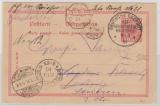 Deutsche Seepost Ost- Afrikanische- Hauptlinie, a, 1891, auf DR 10 RPfg.- GS, gelaufen nach Dresden, weiter nach Striesen