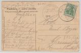 Kamerun / KDMSP (SMS EBER), 8.11.1910 auf DR Mi.- Nr.: 85 als EF Postkarte (DSWA, Bootswerft in Swakopmund) nach Chemnitz