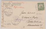 Kamerun, 1906, Mi.- Nr.: 8, als EF auf Bildpostkarte (Faktorei im Innern) von Lolodorf (in blau!) nach Berlin- Lichterfelde