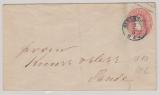 Oldenburg, GS- Umschlag Mi.- Nr.: U10 verwendet als Fernbrief von Oldenburg nach Sande
