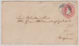 Oldenburg, GS- Umschlag Mi.- Nr.: U10 verwendet als Fernbrief von Oldenburg nach Ovelgönne