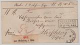 NDP, 1869, Mi.- Nr.: 15 + 18 als MiF (rs.) auf Paketbegleitbrief für ein Paket von Grünberg nach Hirschberg