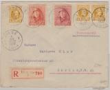 Belgien, 1927, 3,5 Fr. MiF auf Auslands- Einschreiben von Liege nach Berlin