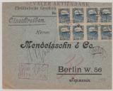 Estland, 1922, 2,5 Mk. (8x) als MeF auf Einschreiben- Auslandsbrief von Tallinn nach Berlin