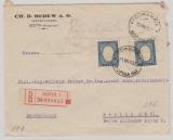 Bulgarien, 1930, 6 Leva (2x) als MeF auf Auslands- Einschreiben von Sofia nach Berlin