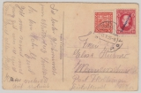 CSSR / Slovenien 5. 1939, 20 Heller (CSSR) + 1 Korun. Überduck (Slovensky Stat) als MiF auf Auslandspostkarte nach D