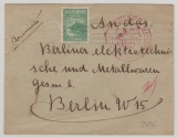 Bulgarien, 1890 (?), 5 ... als EF auf Einschreiben- Auslandsbrief von Sofia nach Berlin, mit Zensurstempeln (???)