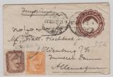 Ägypten, 1910, GS- Umschlag (un Milliéme) + Zusatzfrankatur,  als Auslands- Drucksache von Cairo nach Oldenburg