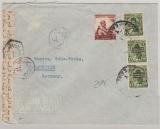 Ägypten, ca. 1950, 52 Miills MiF auf Auslandsbrief (mit Zensur!), von Cairo nach Hannover