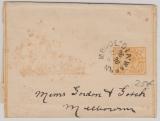 Australien, Victoria, 1896, 1/2 Penny- Streifband- GS, gelaufen von Warrn Mbool nach Melbourne