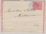 Australien, Victoria, ca. 1900, 1/2 Penny- Streifband- GS (Zinober), gelaufen von ... (Nr. Stempel 142) nach Melbourne