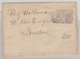 Australien, Victoria, ca. 1900, 1/2 Penny- Streifband- GS (Grau- Lila), gelaufen von ... (Nr. Stempel 149) nach London