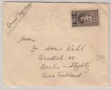 Libanon, 1938, 2 1/2- ... Überdruck Marke als EF auf Auslandsbrief von Beyrouth nach Berlin