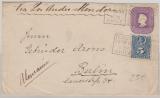 Chile, 1899, 5 Centimos - GS- Umschlag, + 5 Cent. als Zusatzfr., als Auslandsbrief gelaufen von Santiago nach Berlin
