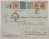 Brasilien, 1906, 310 Reis MiF auf Auslandsbrief von Sao Paulo nach Berlin, hochdekorative mehrfarben MiF und selten!