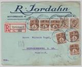 Dänemark, 1923, 70 Öre MiF auf Auslands- Einschreiben von Kopenhagen nach Schwarzenberg (D.)