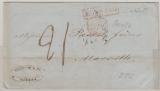 Russland, 1852, unfrankierter Auslandsbrief von Odessa nach Marseille, mit div. Transit- und Taxvermerken!