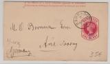 Barbados, 1893, 1/2 d. - Überdruck- GS- Streifband, in Auslandsverwendung von Barbados nach Aue (D.), top erhalten!
