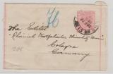 Australien / Victoria, 1902, 1 d. -GS- Streifband gelaufen im Auslandsverkehr von Melbourne nach Köln
