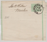 Australien / Victoria, 1899, 1/2- Penny-GS- Streifband gelaufen im Inlandsverkehr von Melbourne nach Murtoa