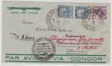 Brasilien, 1935, 4200 Reis MiF auf Condor- Flugpost- Brief von Copacabana nach Rosenheim und weitergesand nach Greifswald
