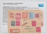 26- 28 u.a. auf Sammler- E.- Karte von Wismar nach Pirna, Befund Kramp BPP