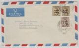 Iraq, ca. 1960 (?), 42 Fils- Überdruck MiF, auf Auslands- Luftpostbrief von Bagdad nach Berlin, rs. mit Irakischer Zensur