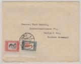 Jordanien, ca. 1960, 7 Fils MiF auf  Auslandsbrief Amman nach Berlin (O)