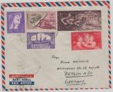 Ägypten, 1957, 50 M. MiF auf Luftpost- Auslandsbrief von Cairo / El Maadi nach Berlin