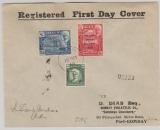 Aden, 1946, 4,5 As MiF auf Auslands- Einschreiben von Aden nach Bombay (Indien)