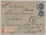 Russland, 1902, 20 Kopeken EF, als Auslands- Einschreiben von ... nach Berlin (D.)