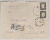 Bulgarien, 1935 (?), 6 Leva (2x) als MeF auf Auslands- Einschreiben von Plovdiv nach Berlin