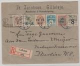 Dänemark, 1922, 90 Öre MiF auf Auslands- Einschreiben von Gilleleje nach Berlin