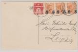 Dänemark, 1923, 26 Öre MiF auf Auslandspostkarte von Fredericksvaerk nach Leipzig