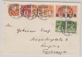 Dänemark, 1929, 41 Öre MiF auf Auslandsbrief von Svendborg nach Leipzig